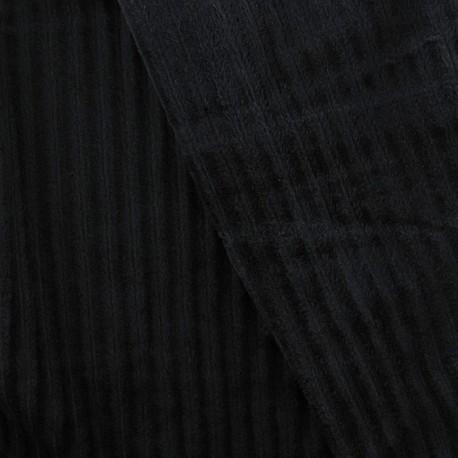 Minkee ribbed velvet fabric - black x 10cm