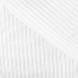 Tissu velours minkee à côtes blanc x10cm