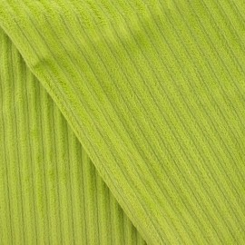 Minkee ribbed velvet fabric - lime x 10cm