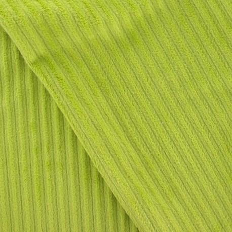 Minkee ribbed velvet fabric - lime x 10cm