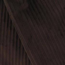 Minkee ribbed velvet fabric - brown x 10cm