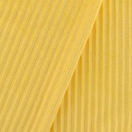 Tissu velours minkee à côtes jaune x10cm