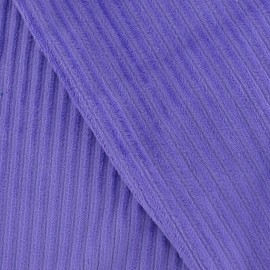 Minkee ribbed velvet fabric - purple x 10cm