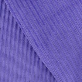 Tissu velours minkee à côtes mauve x10cm