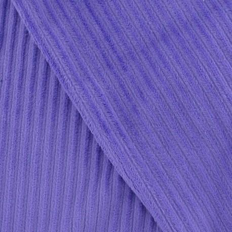 Minkee ribbed velvet fabric - purple x 10cm