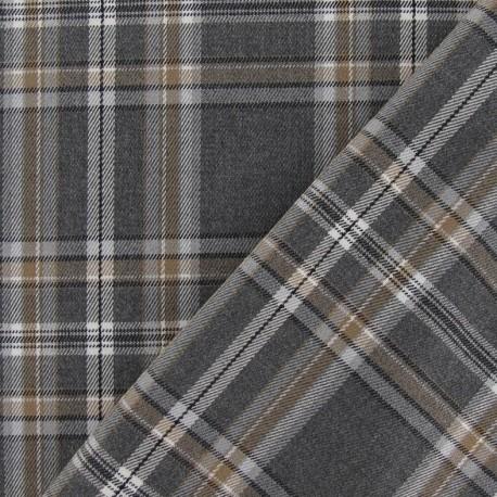 Tissu tartan carreaux gris x 10cm ma petite mercerie for Tissu a carreaux