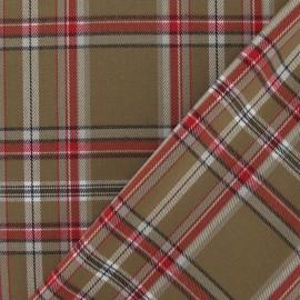 Scottish tartan Tiles Fabric - Brown x10 cm