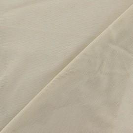 Tulle souple fines mailles beige x10cm