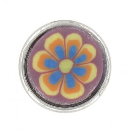 Polyester Button, Fashion, flowers - reddish-purple