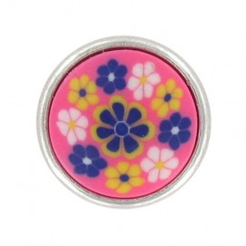 Polyester Button, Fashion, little flowers - pink