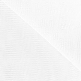 Tulle grande largeur blanc x1m