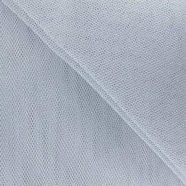 Tulle grande largeur gris x1m