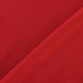 Tissu crêpe envers satin A rouge x 10cm