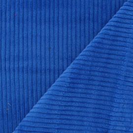 Thick ribbed velvet fabric - royal blue x 10cm