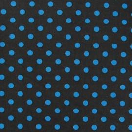 Tissu pois 6mm bleu/marron x 10cm