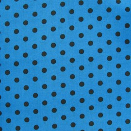 Dots 6mm Fabric - Brown / Blue x 10cm