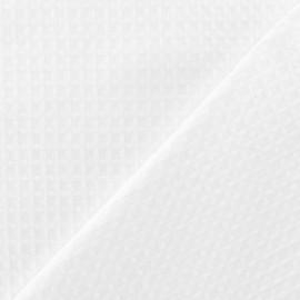 Tissu éponge nid d'abeille recto-verso blanc x 10cm