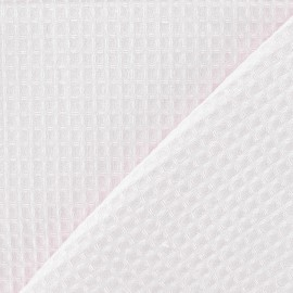 Double-sided Honeycomb towel fabric - Dragée pink x 10cm