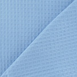 Double-sided Honeycomb towel fabric - Sky x 10cm