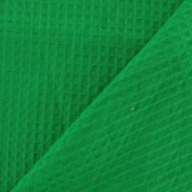 Tissu éponge nid d'abeille recto-verso vert gazon x 10cm