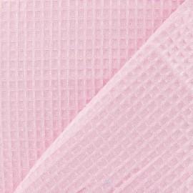 Tissu éponge nid d'abeille recto-verso rose x 10cm
