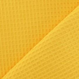 Tissu éponge nid d'abeille recto-verso jaune x 10cm