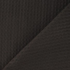 Double-sided Honeycomb towel fabric - brown x 10cm