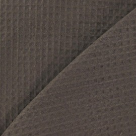 Double-sided Honeycomb towel fabric - Chestnut x 10cm
