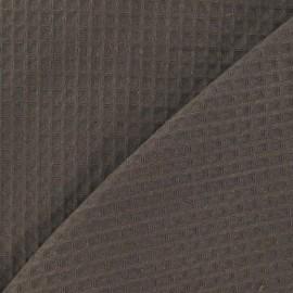Tissu éponge nid d'abeille recto-verso châtaigne x 10cm
