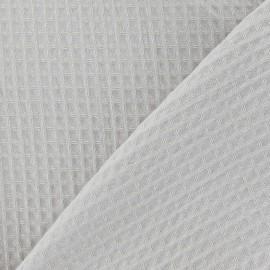 Tissu éponge nid d'abeille recto-verso beige clair x 10cm
