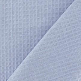 Tissu éponge nid d'abeille recto-verso parme x 10cm