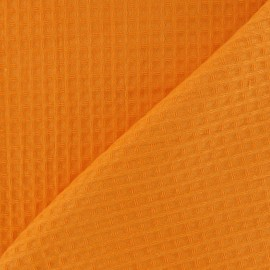 Double-sided Honeycomb towel fabric - Orange x 10cm