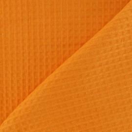Tissu éponge nid d'abeille recto-verso orange x 10cm