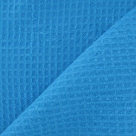 Double-sided Honeycomb towel fabric - Azure x 10cm
