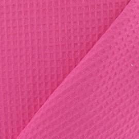 Tissu éponge nid d'abeille recto-verso fuchsia x 10cm