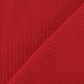 Fabric éponge nid d'abeille recto-verso rouge x 10cm