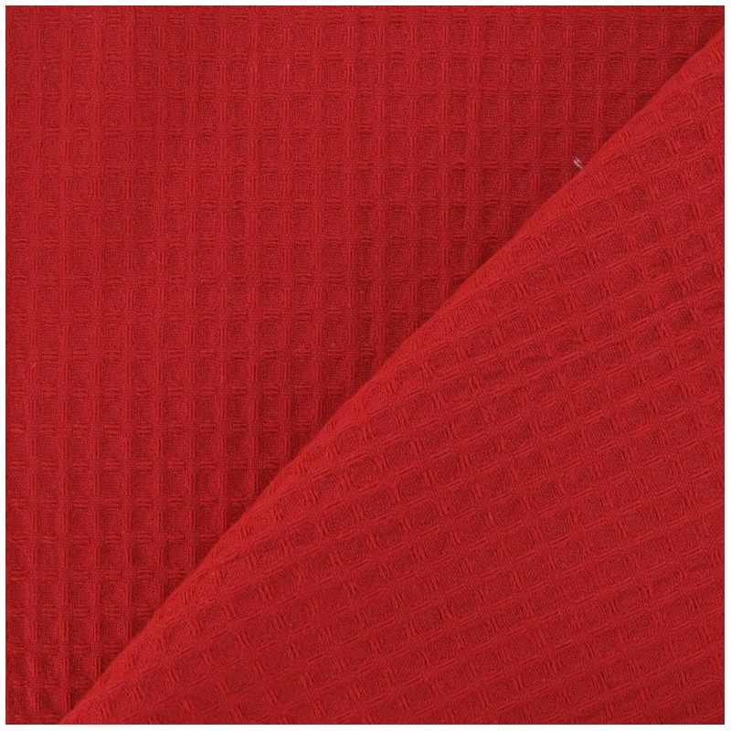Tissu ponge nid d 39 abeille recto verso rouge x 10cm ma for Chaise nid d abeille