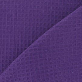 Double-sided Honeycomb towel fabric - Purple x 10cm