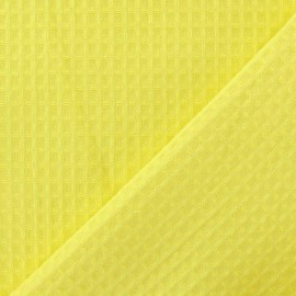 Double-sided Honeycomb towel fabric - Lemonade x 10cm