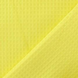 Tissu éponge nid d'abeille recto-verso citronnade x 10cm