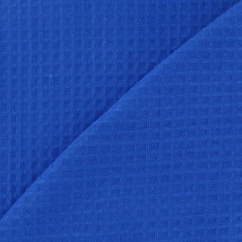 Double-sided Honeycomb towel fabric - Royal blue x 10cm
