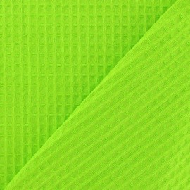 Double-sided Honeycomb towel fabric - lime x 10cm