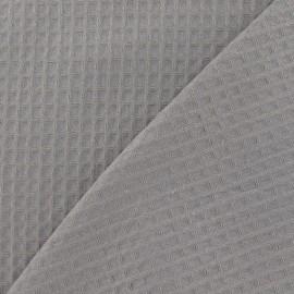 Tissu éponge nid d'abeille recto-verso gris x 10cm
