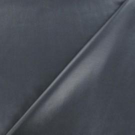 Tissu enduit souple nacré gris x 10cm