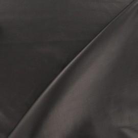 Tissu enduit souple nacré marron x 10cm