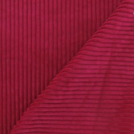 Thick ribbed velvet fabric - fuchsia x 10cm