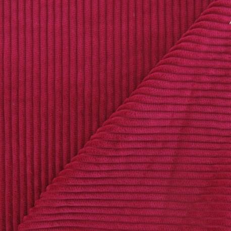 Tissu velours à grosses côtes fuchsia x 10cm