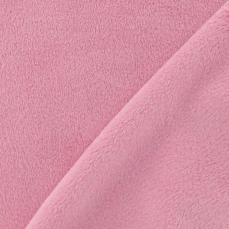 Soft short minkee velvet Fabric - pink x 10cm