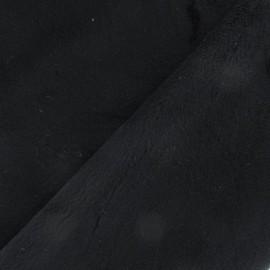 Tissu velours minkee doux ras noir x 10cm