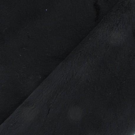 Soft minkee short velvet fabric - black x 10cm